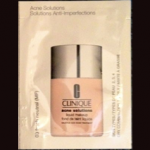 Picture of my Clinique acne solutions liquid makeup free sample