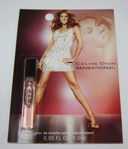 Picture of my Celine Dion Sensational EDT point05oz Spray Free Sample