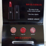 Picture of my Giorgio Armani Rouge D'Armani Lipstick 3-Set Free Sample