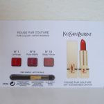 Picture of my Yves Saint Laurent Rouge Pur Couture Lipstick 3-Set Free Sample