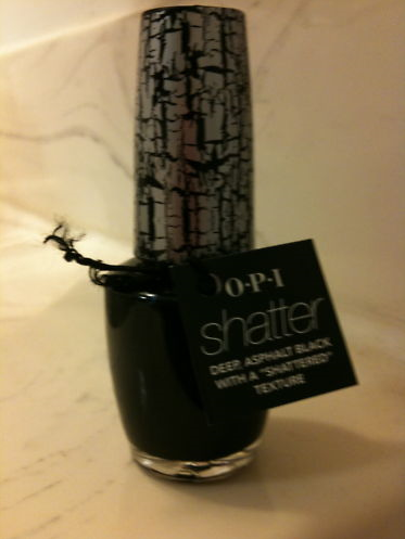 Picture of my Katy Perry OPI Collection Black Shatter Nail Polish Free Sample