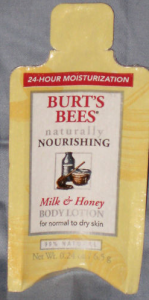 Picture of my Burts Bees Milk Honey Body Lotion Free Sample 149x300