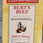 Picture of my Burts Bees Milk & Honey Body Lotion Free Sample