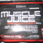 Picture of my Ultimate Nutrition Muscle Juice Weight Gain Free Sample