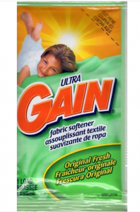Picture of my Ultra Gain Fabric Softener One Load Packet Free Sample 198x300