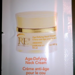 Picture of my Arbonne RE9 Age Defying Neck Cream Free Sample