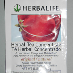 Picture of my Herbalife Herbal Tea Concentrate Free Sample