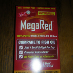 Picture of my Schiff Mega Red Omega 3 Krill Oil 5 Day Supply Free Sample