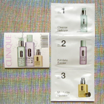 Picture of my Clinique 3 Step Skin Care System Free Sample