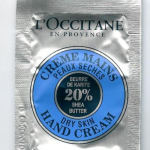 Picture of my L Occitane Shea Butter Dry Skin Hand Cream Free Sample