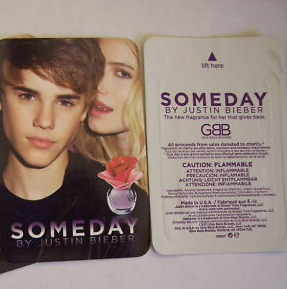 Picture of my Justin Bieber Someday Perfume Free Sample