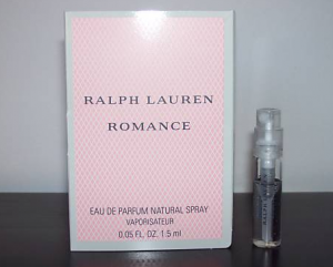 Picture of my Ralph Lauren Romance Perfume Free Sample 300x241