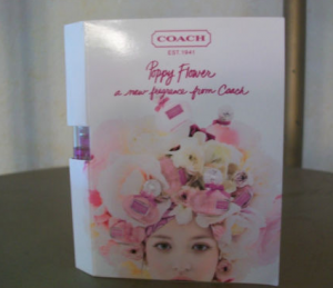Picture of my Coach Poppy Flower Perfume Free Sample 300x259