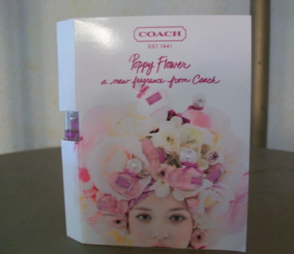 Picture of my Coach Poppy Flower Perfume Free Sample