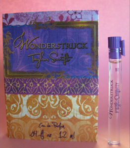Picture of my Taylor Swift Wonderstruck Perfume Free Sample