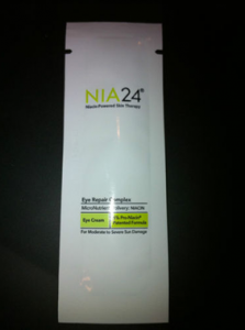 Picture of my NIA24 Eye Repair Complex Free Sample