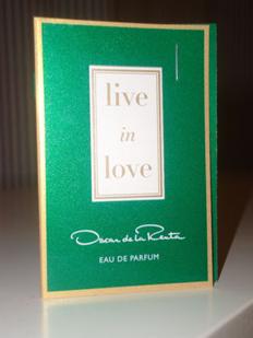 Picture of my Oscar De La Renta Live In Love Free Sample