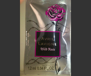Picture of my Avril Lavigne Wild Rose Perfume Free Sample