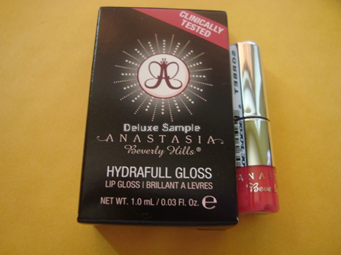 Picture of my Anastasia Hydrafull Lip Gloss Deluxe Free Sample