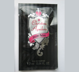 Picture of  my Christina Aguilera Secret Potion Perfume Free Sample