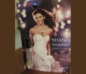 Picture of my Shania Twain Starlight Perfume Free Sample