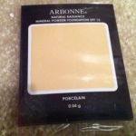 Picture of my Arbonne Mineral Powder Foundation Free Sample