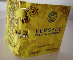 Picture of  my Versace Yellow Diamond Perfume Free Sample