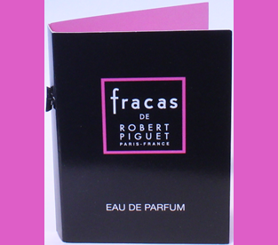 Picture of my Robert Piguet Fracas Free Sample