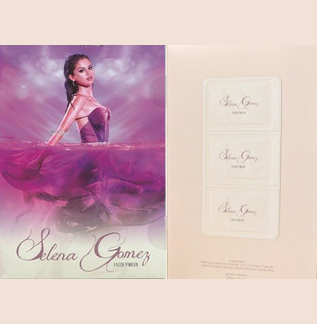 Picture of my Selena Gomez Perfume Free Sample