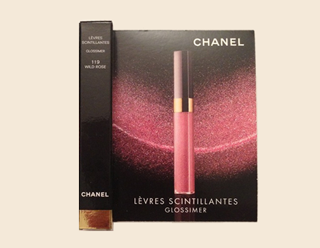 Picture of my Chanel Levres Scintillantes Glossimer Free Sample