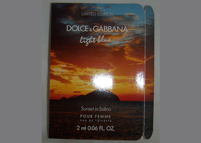 Picture of my Dolce & Gabbana Light Blue Sunset in Salina Free Sample