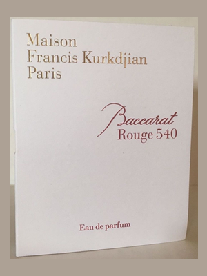 Picture of Maison Francis Kurkdjian Baccarat Rouge 540 Free Sample